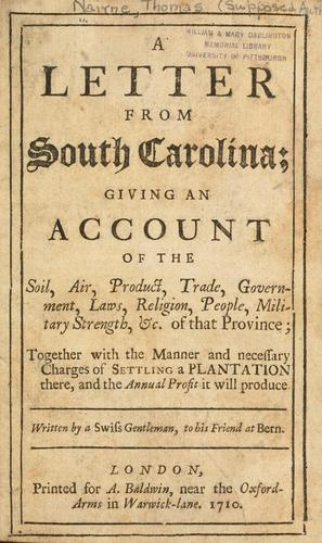 Download A letter from South Carolina