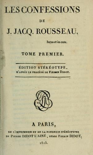 Download Les confessions de J. Jacq. Rousseau