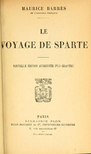 Le voyage de Sparte.