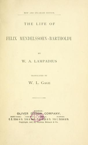 Download The life of Felix Mendelssohn-Bartholdy