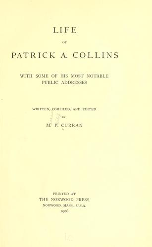 Life of Patrick A. Collins