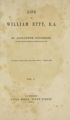 Download Life of William Etty, R. A
