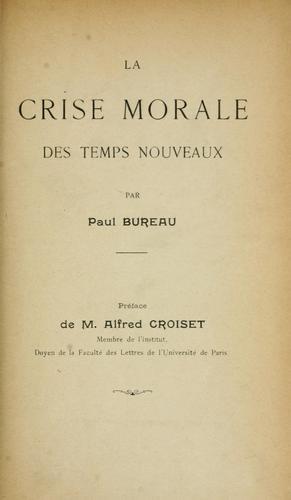 Download La crise morale des temps nouveaux