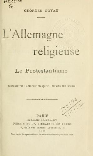 Download L' Allemagne religieuse-