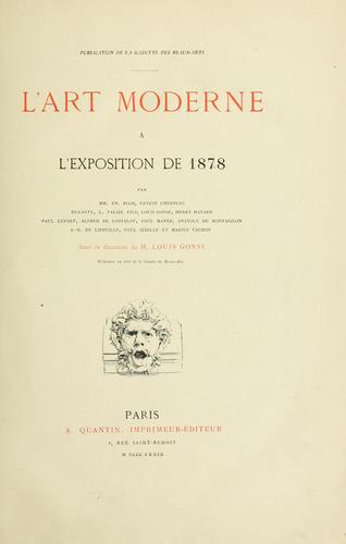 L' art moderne à l'Exposition de 1878