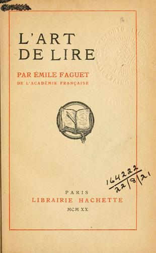 Download L' art de lire.