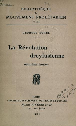 La révolution dreyfusienne