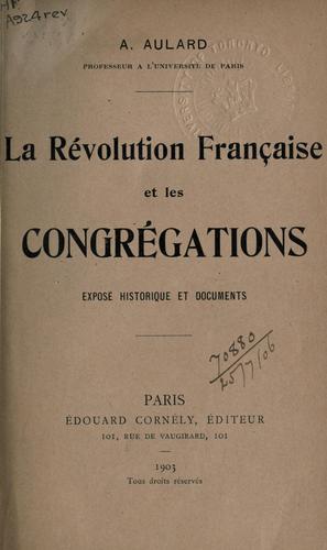 La Révolution française et les congrégations