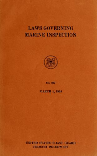 Download Laws governing marine inspection.