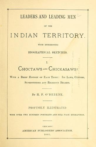 Download Leaders and leading men of the Indian Territory