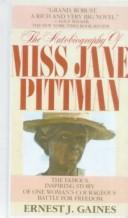 cover of  the autobiography of miss jane pittman by gaines  ernest j