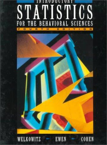 Download Introductory statistics for the behavioral sciences