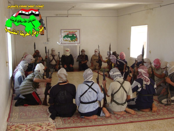 جيش رجال الطريقة النقشبندية قصف مقر للعدو الامريكي بتاريخ 5/6/2012