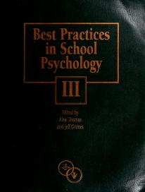 Cover of: Best Practices in School Psychology III | Alex Thomas