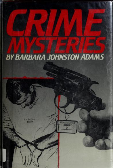 Crime mysteries by Barbara Johnston Adams
