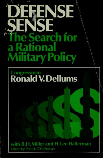 Cover of: Defense sense | Ronald V. Dellums