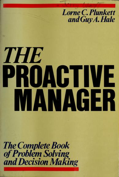 The Proactive Manager by Lorne Plunkett