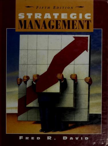 Strategic management by Fred R. David