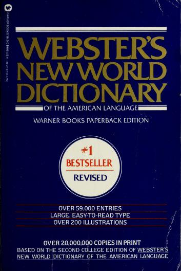Cover of: Webster's New World dictionary of the American language | David B. Guralnik, editor in chief.
