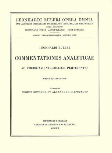 Commentationes geometricae 4th part by Leonhard Euler