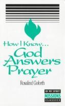 How I Know God Answers Prayer