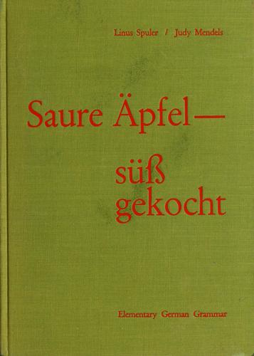Sour apples, cooked sweet by Linus Spuler