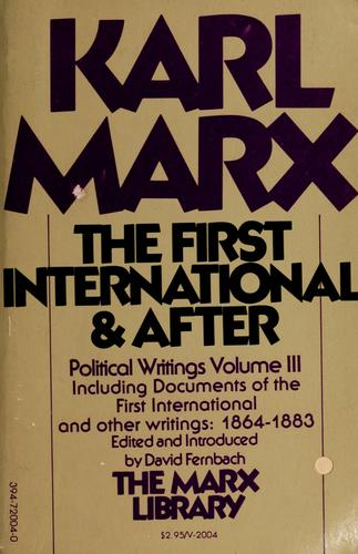 The First International and after by Karl Marx