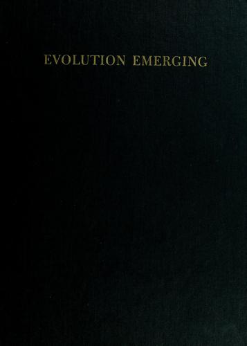 Evolution emerging by William K. Gregory