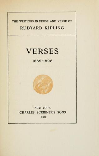 Verses, 1889-1896