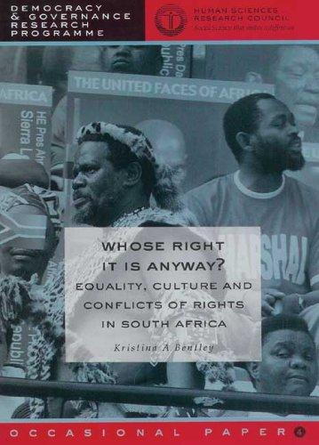 Whose right it is anyway? by Kristina A. Bentley