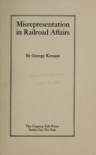 Misrepresentation in railroad affairs