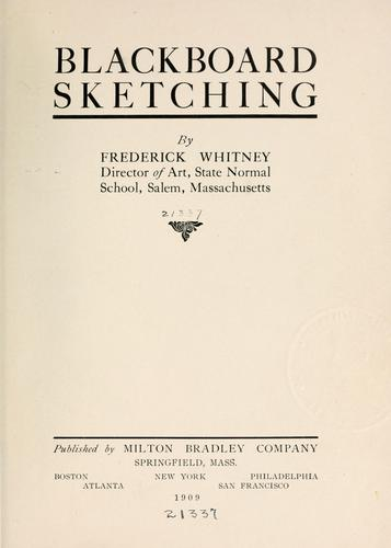 Blackboard sketching by Frederick Whitney