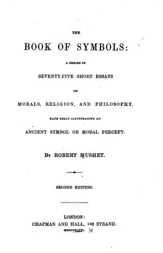 The book of symbols by Robert Mushet
