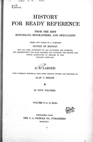 History for ready reference by Larned, J. N.
