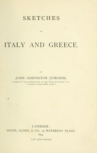 Sketches in Italy and Greece