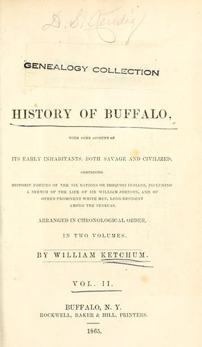 An authentic and comprehensive history of Buffalo