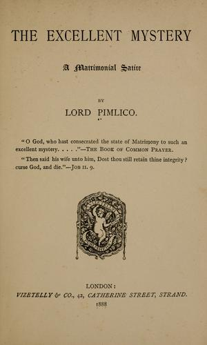 The excellent mystery by Pimlico Lord.