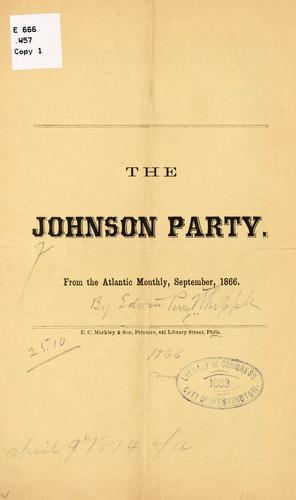 The Johnson party by Edwin Percy Whipple