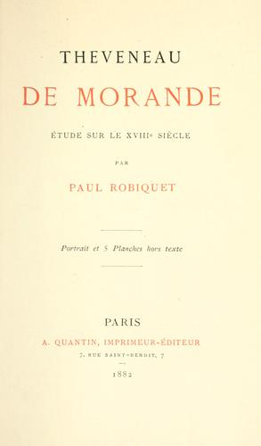 Theveneau de Morande by Paul Robiquet