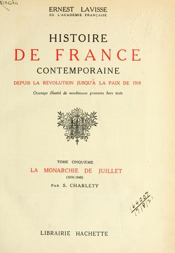 Histoire de France contemporaine by Ernest Lavisse