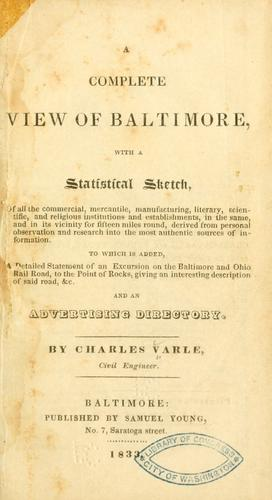 A complete view of Baltimore by Charles Varle