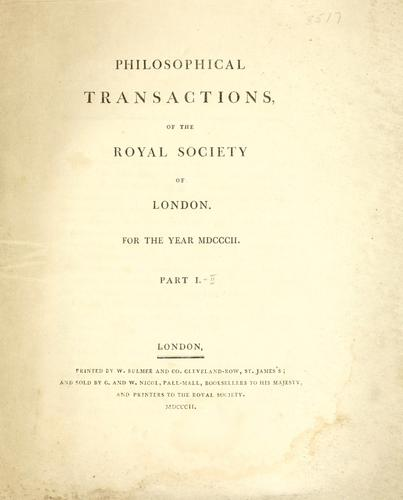 Philosophical transactions.  Series A by Royal Society of London
