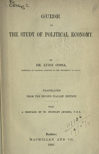 Guide to the study of political economy