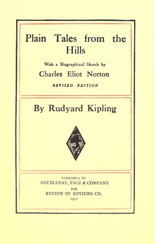 Plain tales from the hills. by Rudyard Kipling