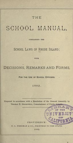 The school manual by Rhode Island.