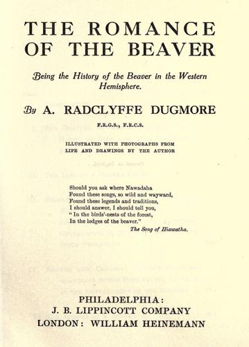 The romance of the beaver by