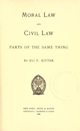 Moral law and civil law by