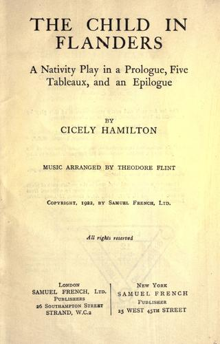 The child in Flanders by Cicely Mary Hamilton