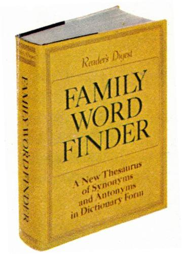 Family word finder by Reader's Digest