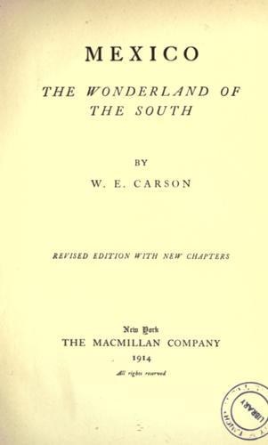Mexico by William English Carson